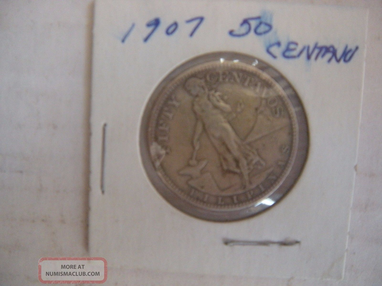 Philippines 50 Centavos,  1907 Ungraded Other Coins of the World photo