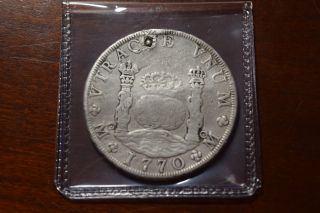 Mexico 1770 8 Real Pillar Dollar Plugged photo