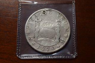 Mexico 1770 8 Real Pillar Dollar Plugged photo
