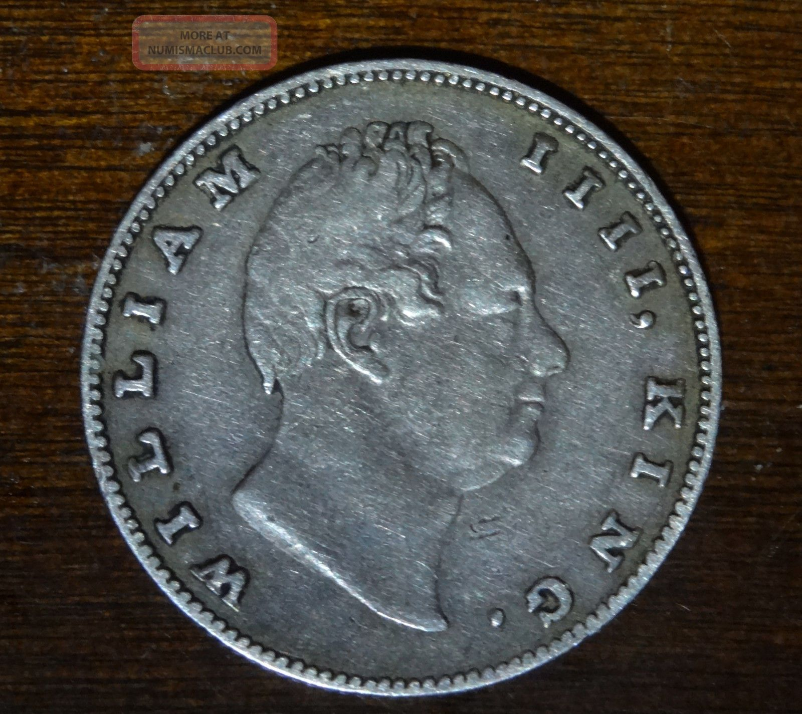 British India Silver Rupee William Iiii 1835 Extra Fine Bombay Rare India photo