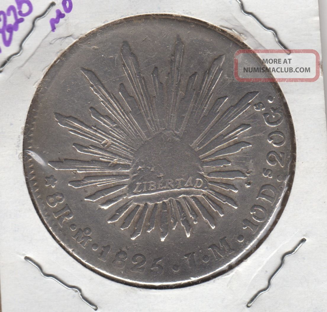 Coin 8 Reales 1825,  Mexico,  Republic,  Silver Mexico photo