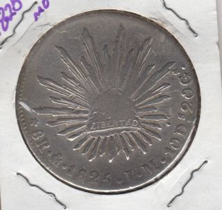 Coin 8 Reales 1825,  Mexico,  Republic,  Silver photo
