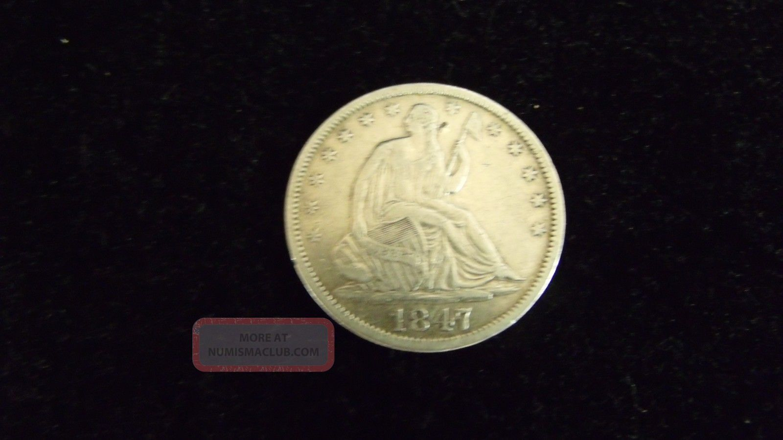 1847 - O Seated Liberty Half Dollar Half Dollars photo