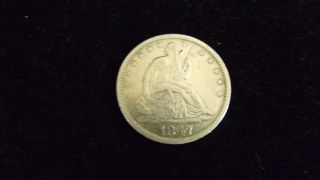 1847 - O Seated Liberty Half Dollar photo