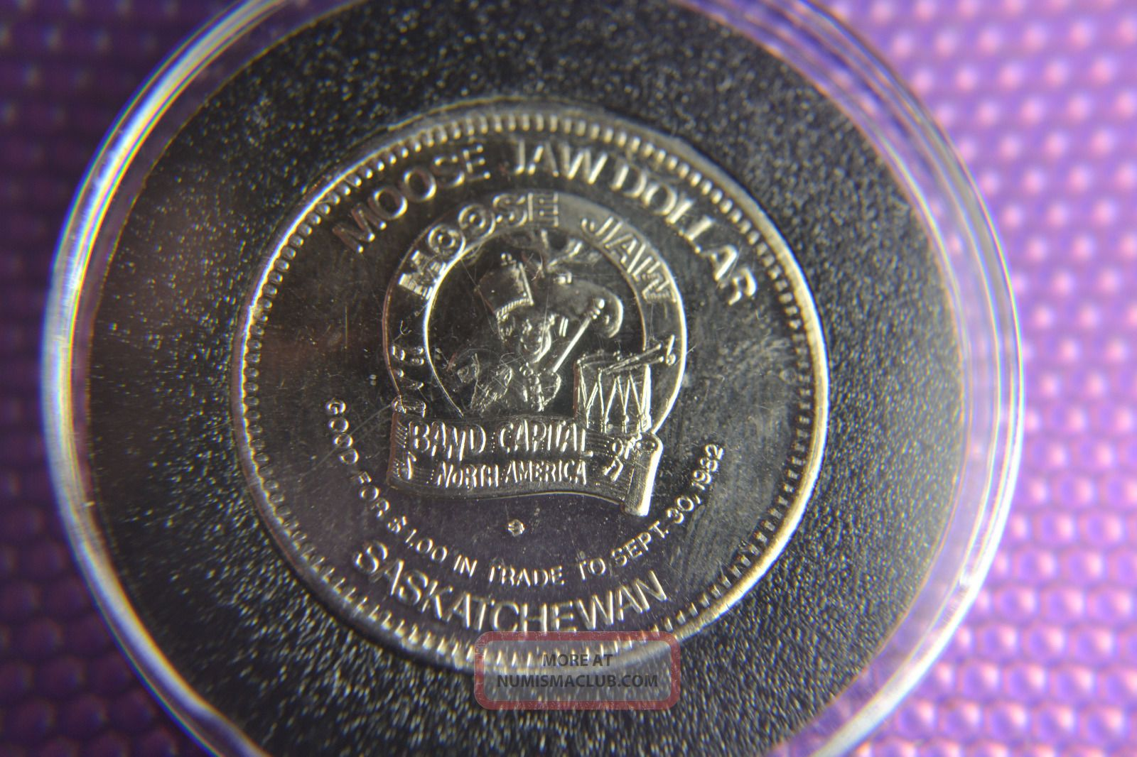 Canada/ Moose Jaw Saskatchewan Mirror Finish Coin/ Centennial 1882/1982 Coins: Canada photo