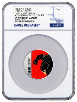 2016 Fiji $2 2 Oz.  Silver Batman: Dark Knight Returns Ngc Pf69 Uc Er Sku42822 photo