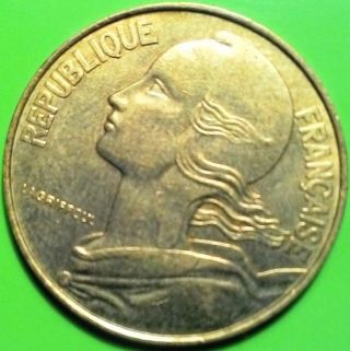 France Marianne Km 930 20 Centimes 1987 Coin Vf Shi photo