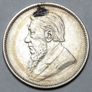 1897 South Africa Silver 2 Two Shilling Coin photo