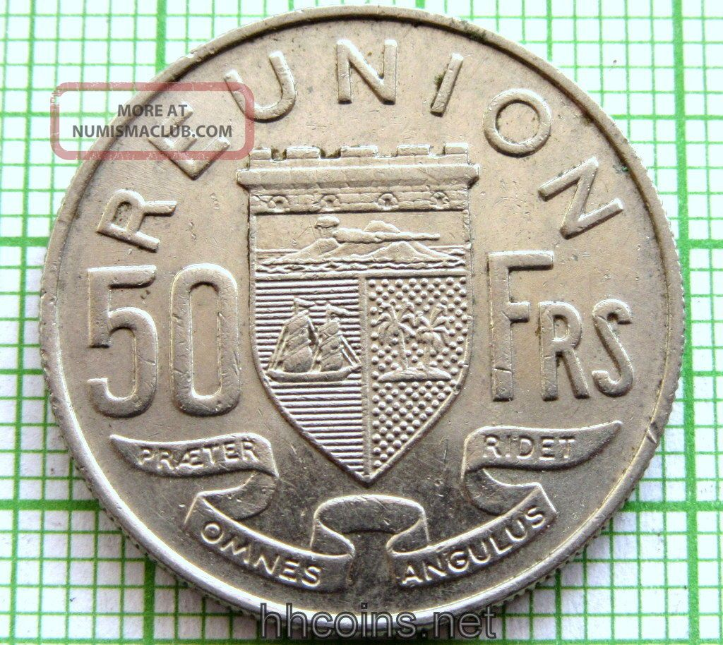 Reunion French Colony 1962 50 Francs Africa photo