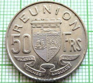 Reunion French Colony 1962 50 Francs photo