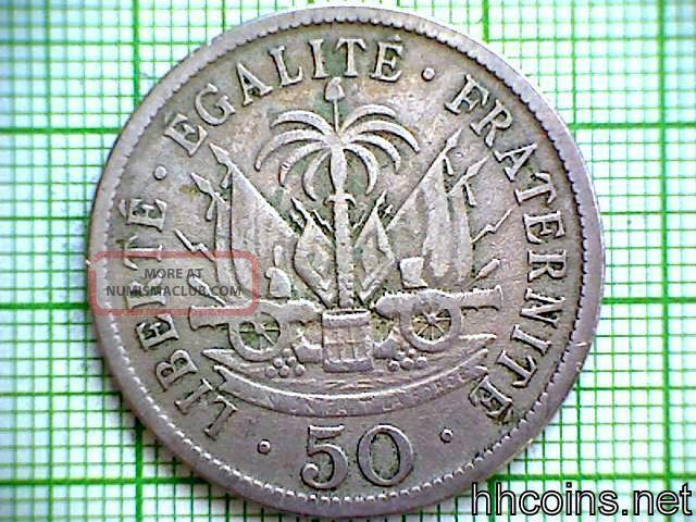 Haiti 1908 50 Centimes Haiti photo
