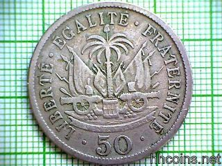 Haiti 1908 50 Centimes photo