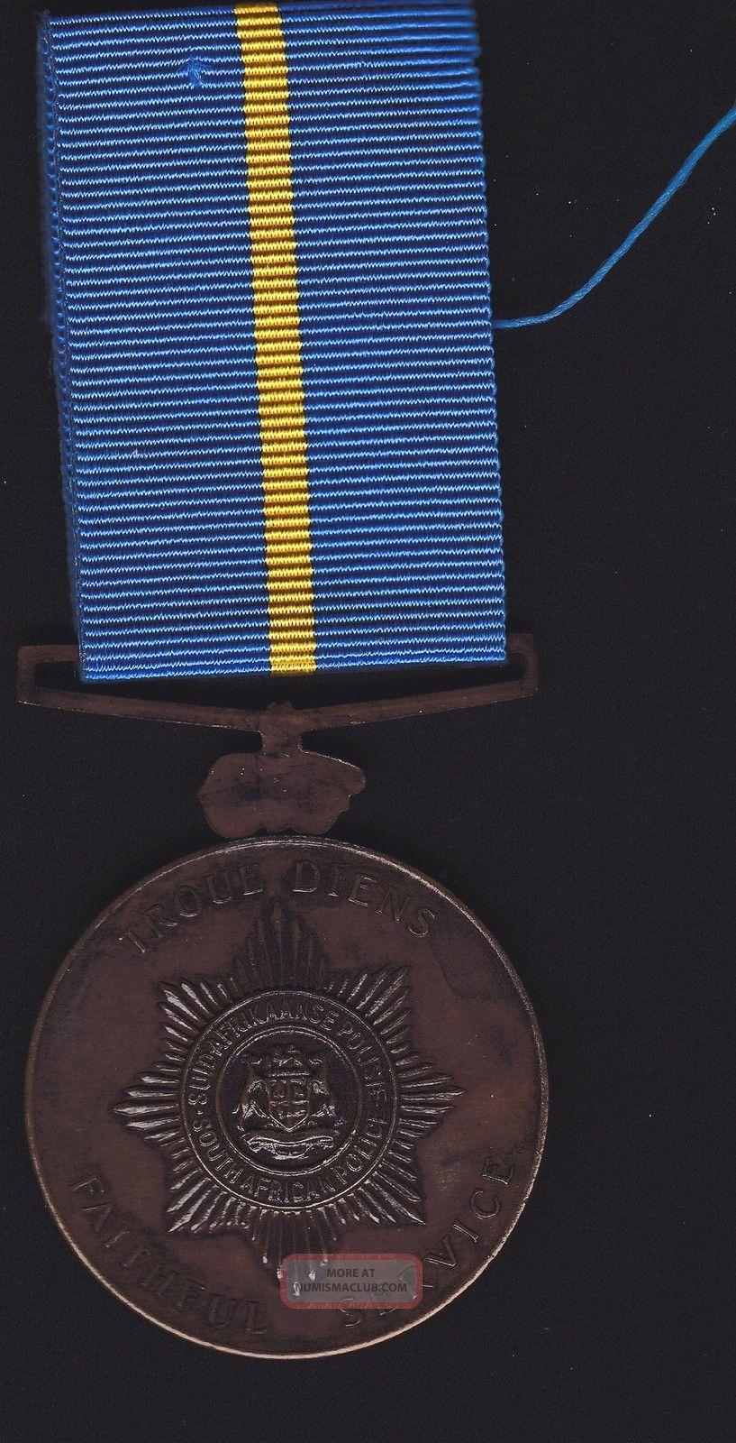Sth Africa Police Faithful Service,  Unnamed Medal Exonumia photo