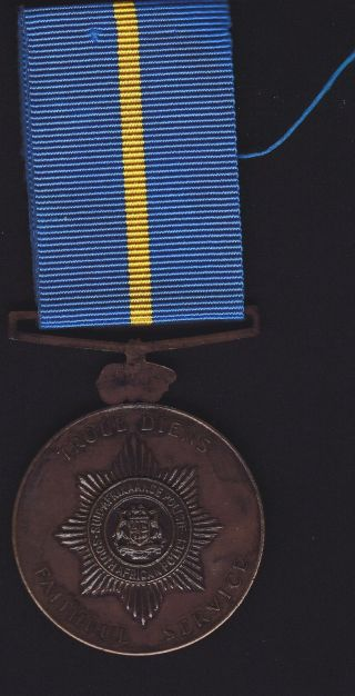 Sth Africa Police Faithful Service,  Unnamed Medal photo