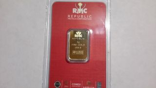 24 K,  R.  M.  C 5 Gram Pure Gold Bar.  I Buy Directly From The, photo