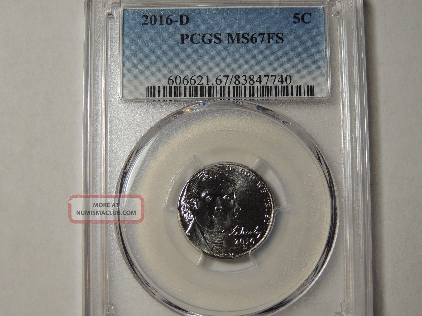 2016 D Pcgs Jefferson Nickel Ms67 Fs Full Steps Nickels photo