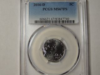 2016 D Pcgs Jefferson Nickel Ms67 Fs Full Steps photo