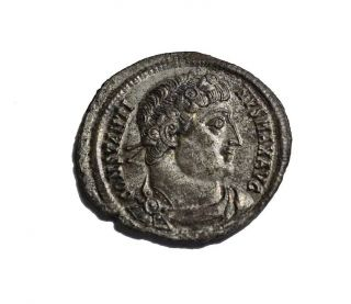 Very Nicely Silvered Constantine I Camp Gate Antioch 21.  5mm photo