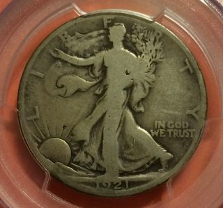 1921 - D Walking Liberty Half Dollar,  Pcgs G06,  The Key Date,  Quite Scarce photo