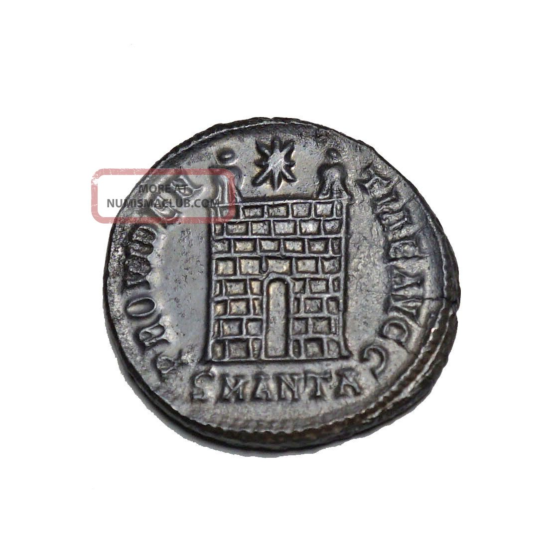 Good Camp Gate Coin Of Constantine I Antioch Coins: Ancient photo