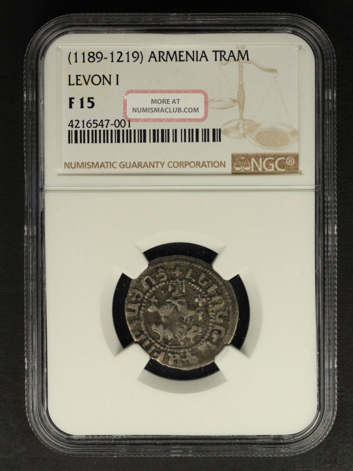 (1189 - 1219) Armenia Silver Tram Levon I Ngc F - 15 - 160453 Coins: Ancient photo