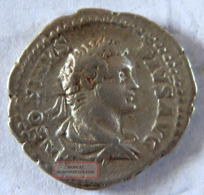 Roman Silver Coin Of Caracalla Coins: Ancient photo