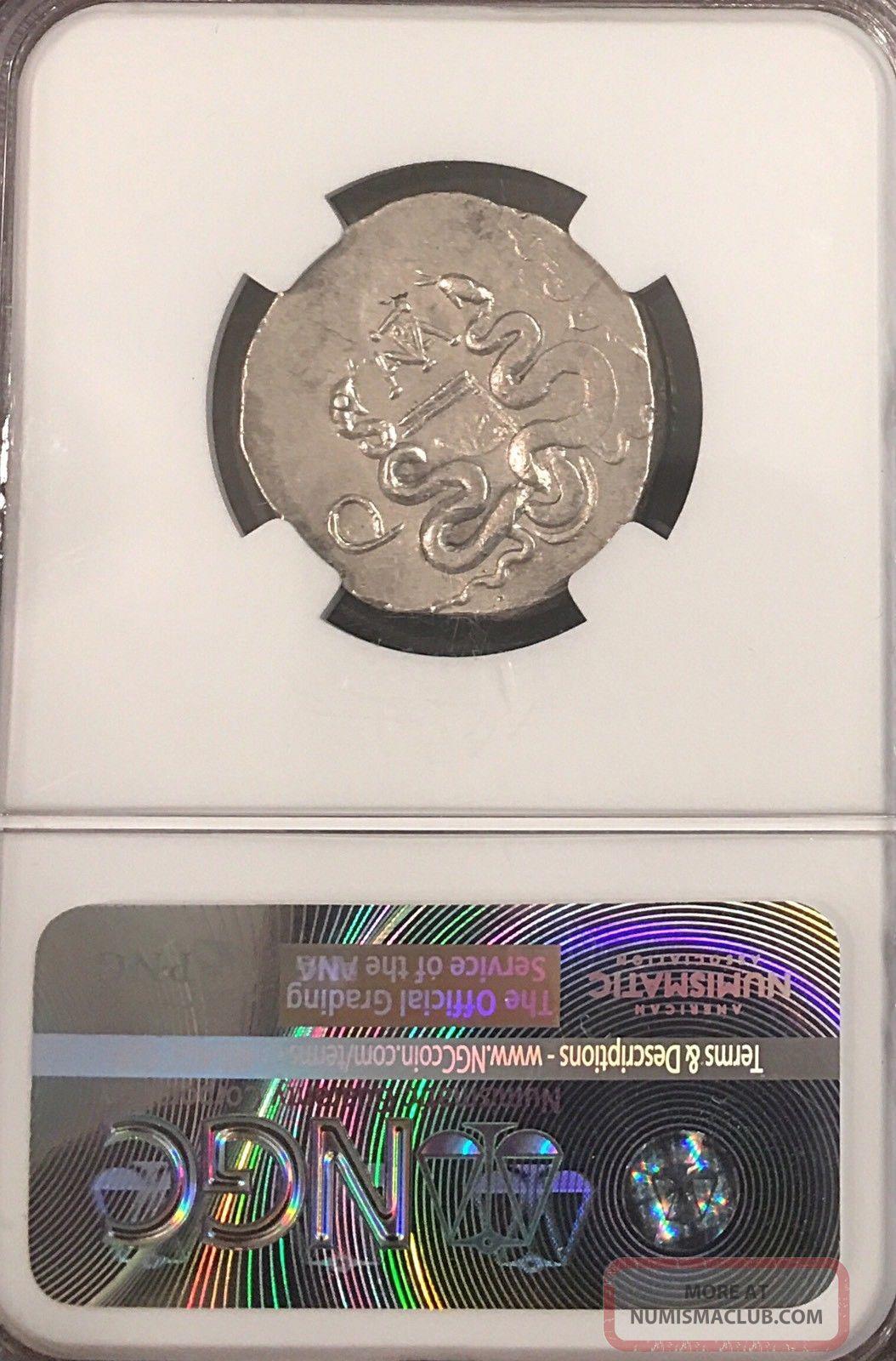 Mysia Pergamon Silver Cistaphoric Tetradrachm Lucius Antony Ngc Rare See Desc Coins: Ancient photo