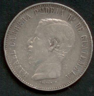 Guatemala 1860,  4 Cuatro Reales Silver photo