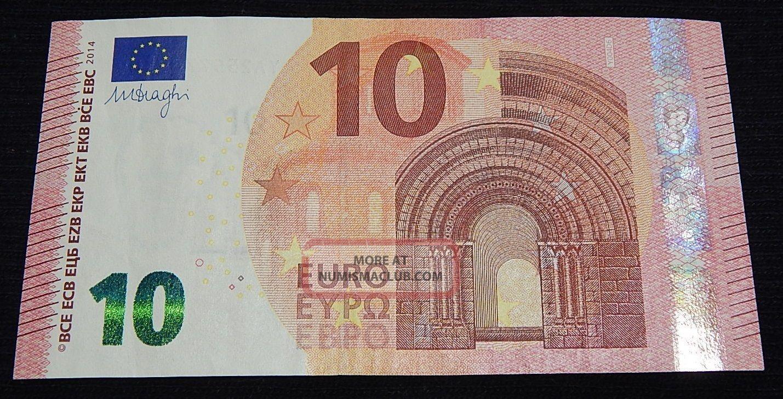 Greece Greek 10 Eyro Y Printer Y004 Very Rare Banknote Europe photo