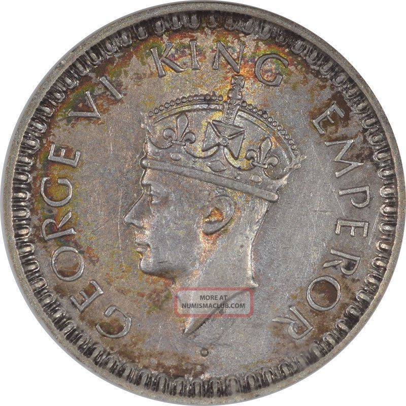1945 - L India Half Rupee,  Km552,  Anacs Au - 55.  From The Reeded Edge India photo