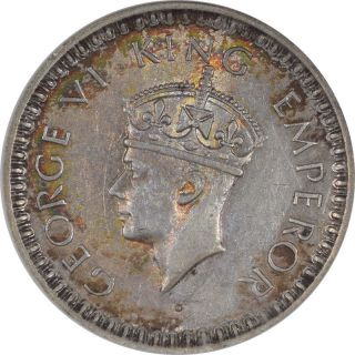 1945 - L India Half Rupee,  Km552,  Anacs Au - 55.  From The Reeded Edge photo