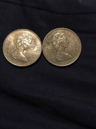 2 - 1981 Great Britain Prince Of Wales And Lady Diana Coin photo