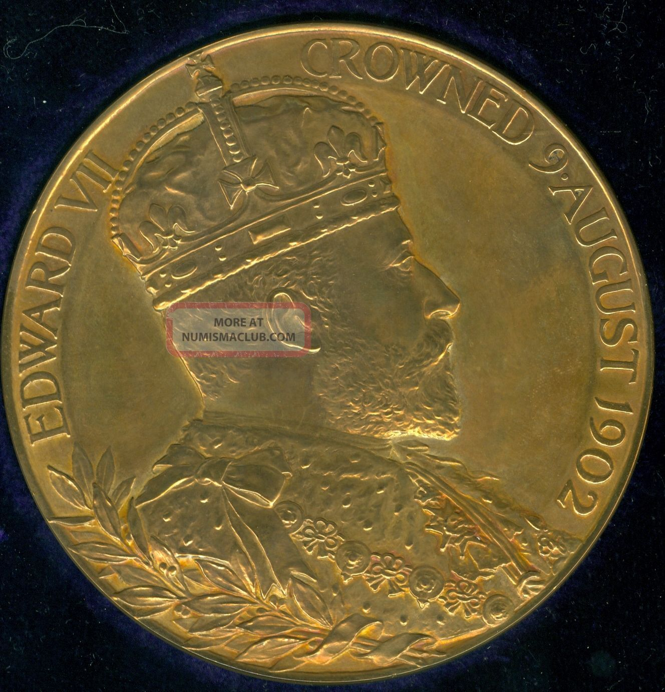 1902 King Edward Vii Coronation Celebration Medal,  Issued By Royal Exonumia photo