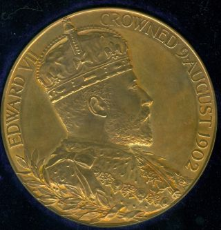 1902 King Edward Vii Coronation Celebration Medal,  Issued By Royal photo