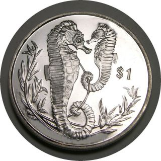 Elf Br Virgin Islands 1 Dollar 2017 Sea Horse photo