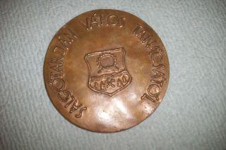 Hungary Salgotarjan Varos Tanacsatol Extra Large Bronze Medal photo