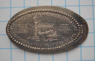 World ' S Fair Elongated Nickel Not Penny Knoxville Tn Usa Cent ' 82 Souvenir Coin photo